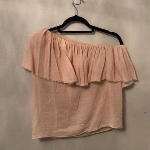 Rebecca Taylor Size 10 one shoulder top in blush